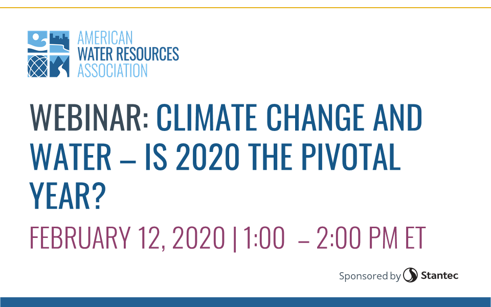 WEBINAR RECORDING: Climate Change and Water
